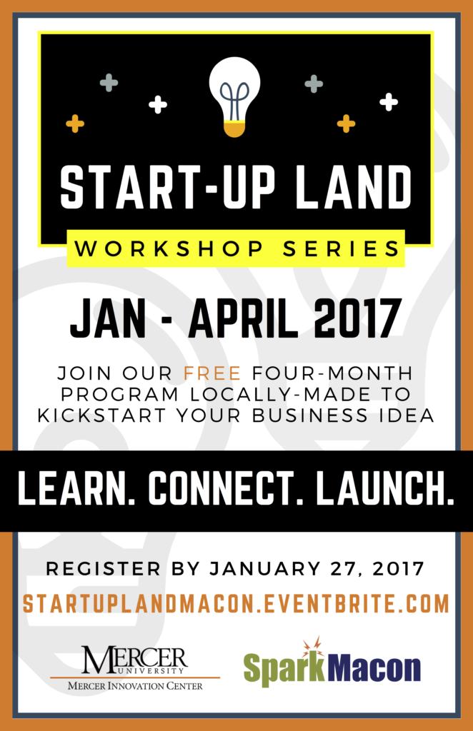 Start-Up Land Workshops Poster