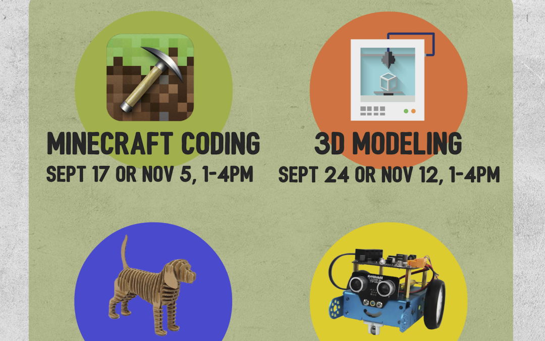 Maker Skills Fall & Winter Workshops!
