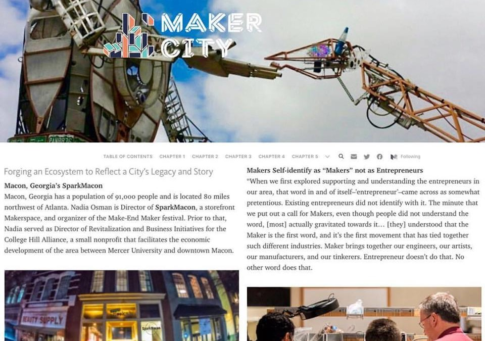 SparkMacon Featured in Maker City Playbook!
